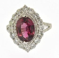 Cocktail Ring Showcasing a GIA Certified Pink Sapphire