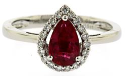 Rare Unheated GIA Certified Ruby Ring