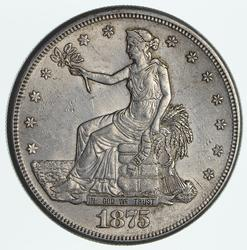 1876-S Seated Liberty Silver Trade Dollar - Near Uncirculated - Cleaned