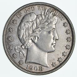 1908-S Barber Half Dollar - Near Uncirculated