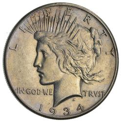 1934-S Peace Silver Dollar- Circulated