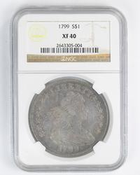 XF40 1799 Draped Bust Silver Dollar - NGC Graded