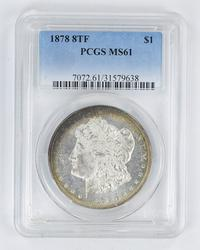 MS61 1878 8TF Morgan Silver Dollar - PCGS Graded