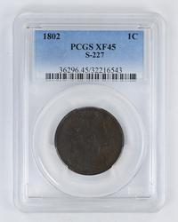 XF45 1802 Draped Bust Large Cent - PCGS Graded