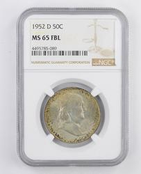 MS65FBL 1952-D Franklin Half Dollar - NGC Graded