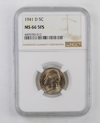 MS66 5FS 1941-D Jefferson Nickel - NGC Graded