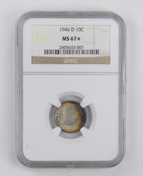MS67 STAR 1946-D Roosevelt Dime - NGC Graded - Toned
