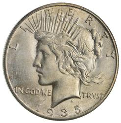 1935-S Peace Silver Dollar- Not Circulated