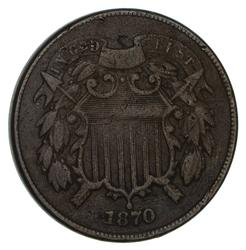 1870 Two-Cent Piece- Circulated