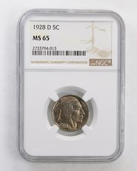 1928-D Buffalo Indian Nickel - NGC MS65