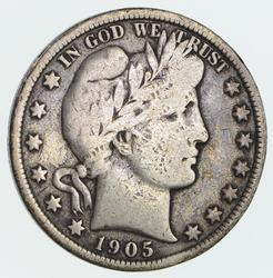 1905 Barber Half Dollar- Circulated