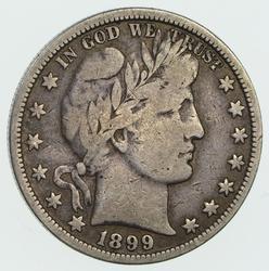 1899-O Barber Half Dollar- Circulated
