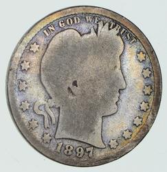 1897-S Barber Quarter- Circulated
