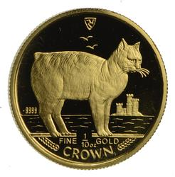 1988 Isle of Man 1/10 oz Fine Gold Crown- Not Circulated