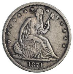 1871-S Seated Liberty Half Dollar- Circulated