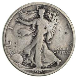 1921 Walking Liberty Half Dollar- Circulated