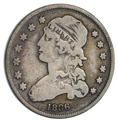 1836 Capped Bust Quarter- Circulated