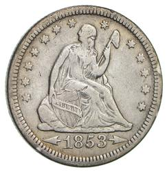 1853 Seated Liberty Quarter- Circulated