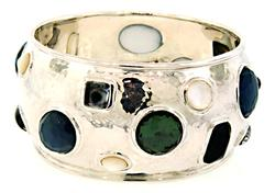 Ippolita Wide Mosaic Bangle Bracelet in Sterling