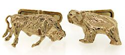 Tiffany & Co Bull & Bear Cufflinks