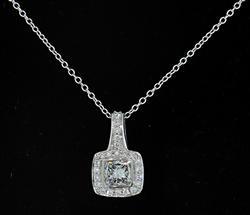 Ritani Diamond Pendant Necklace in Platinum