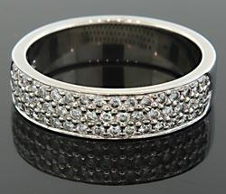 3 Row Pave Set Diamond Band