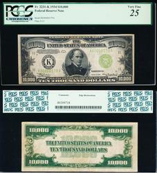 $10,000 1934 FRN Ultra High Denomination PCGS 25