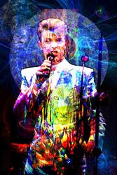 Bowie, Impressive Original Mix Media by A. Quintero