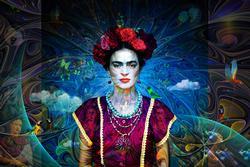 Fantastic Original Mix Media on Canvas by A. Quintero
