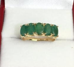 14kt Gold & Emerald Band Ring