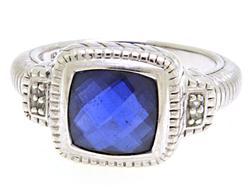 Designer Judith Ripka Silver Ring