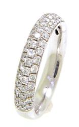 Diamond Pave Domed Band