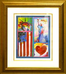 Spectacular Original Peter Max Painting on Paper
