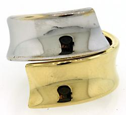 Two Tone Wrap Around Ring in 18K