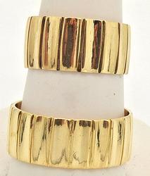 Heavy 18kt Gold Men's & Ladies Matching Rings