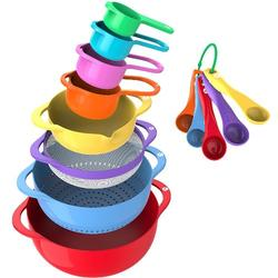 13 Piece Colorful Mixing Bowl Set With Handle