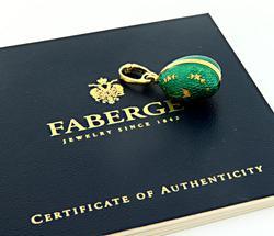 Green Enamel Faberge Egg Pendant