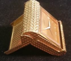 18k Gold Van Cleef & Arpels 18KT Traveling Alarm Clock