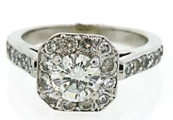 1.32 CTW Multi Diamond Halo Ring in 18K