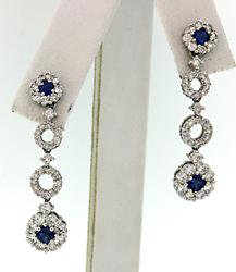 Irresistible Diamond & Sapphire Party Earrings in 18K
