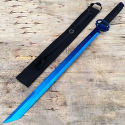 Blue Full Tang Macete Tactical Katana Sword With Sheath