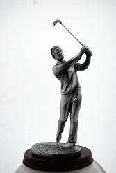 The Stylish Bronze Golfer Sculpture