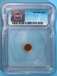 1884 California Gold Token MS63 in an ICG Holder