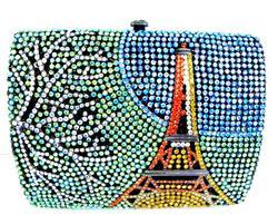 Fabulous Crystal Encrusted Eiffel Tower Clutch Bag