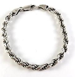 Italian Silver Rope Bracelet