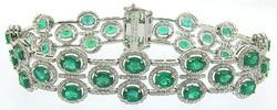 Impressive Emerald & Diamond Bracelet Platinum