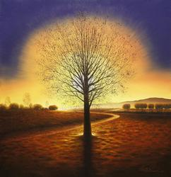 Iconic Tree Scene by Master Painter Jung