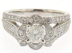 Brilliant Ornate Ring Overflowing With Diamonds