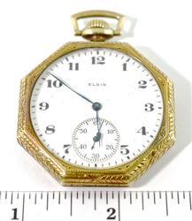 14K Octagonal Elgin Pocketwatch