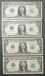 2 CU 1963 B Barr  and 2 1988 B $1 FRN Star Notes